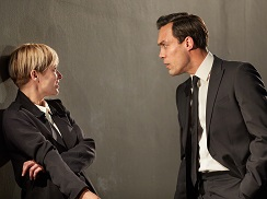 Siân Brooke as Pauline Gibson and Alex Hassell as Jack Gould.