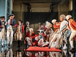 The cast of The Madness of George III