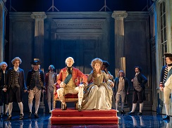 Mark Gatiss, Debra Gillett and the cast of The Madness of George III