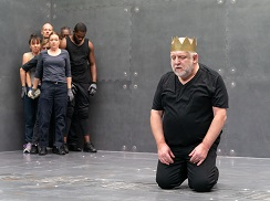 Simon Russell Beale and the company. Photo by Marc Brenner.